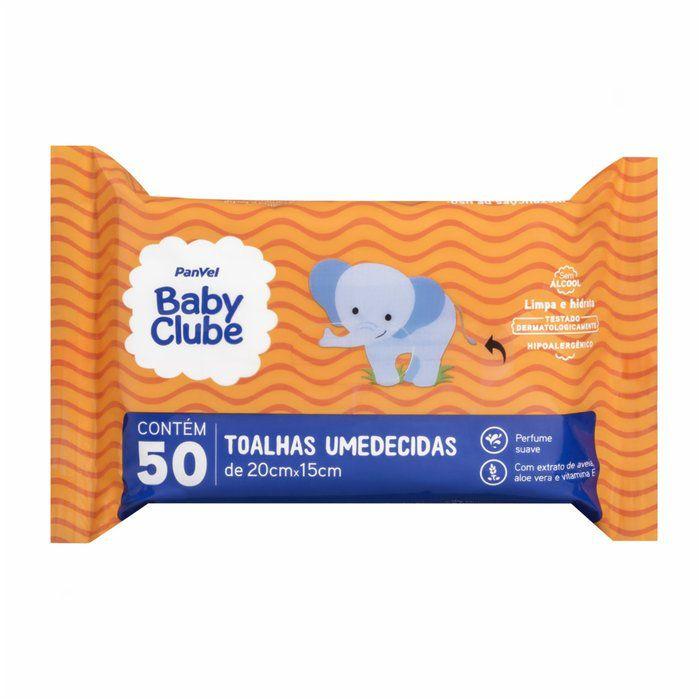 Toalhinhas Umedecidas Panvel Baby Clube - 50 toalhinhas