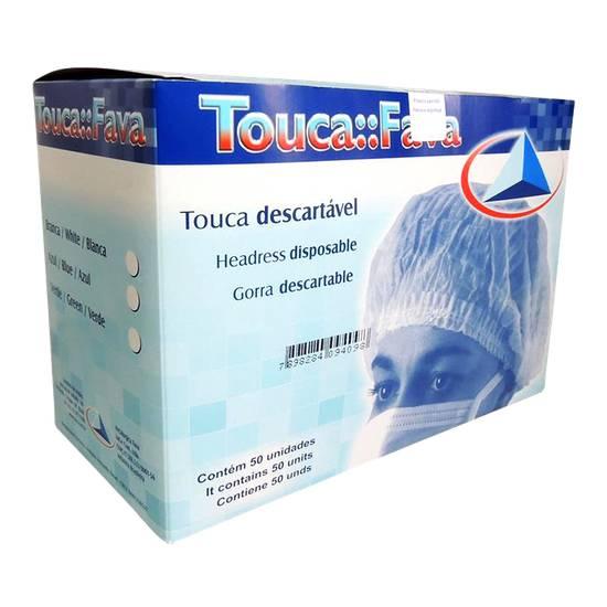 Touca Descartável Fava Sanfonada - 50 unidades