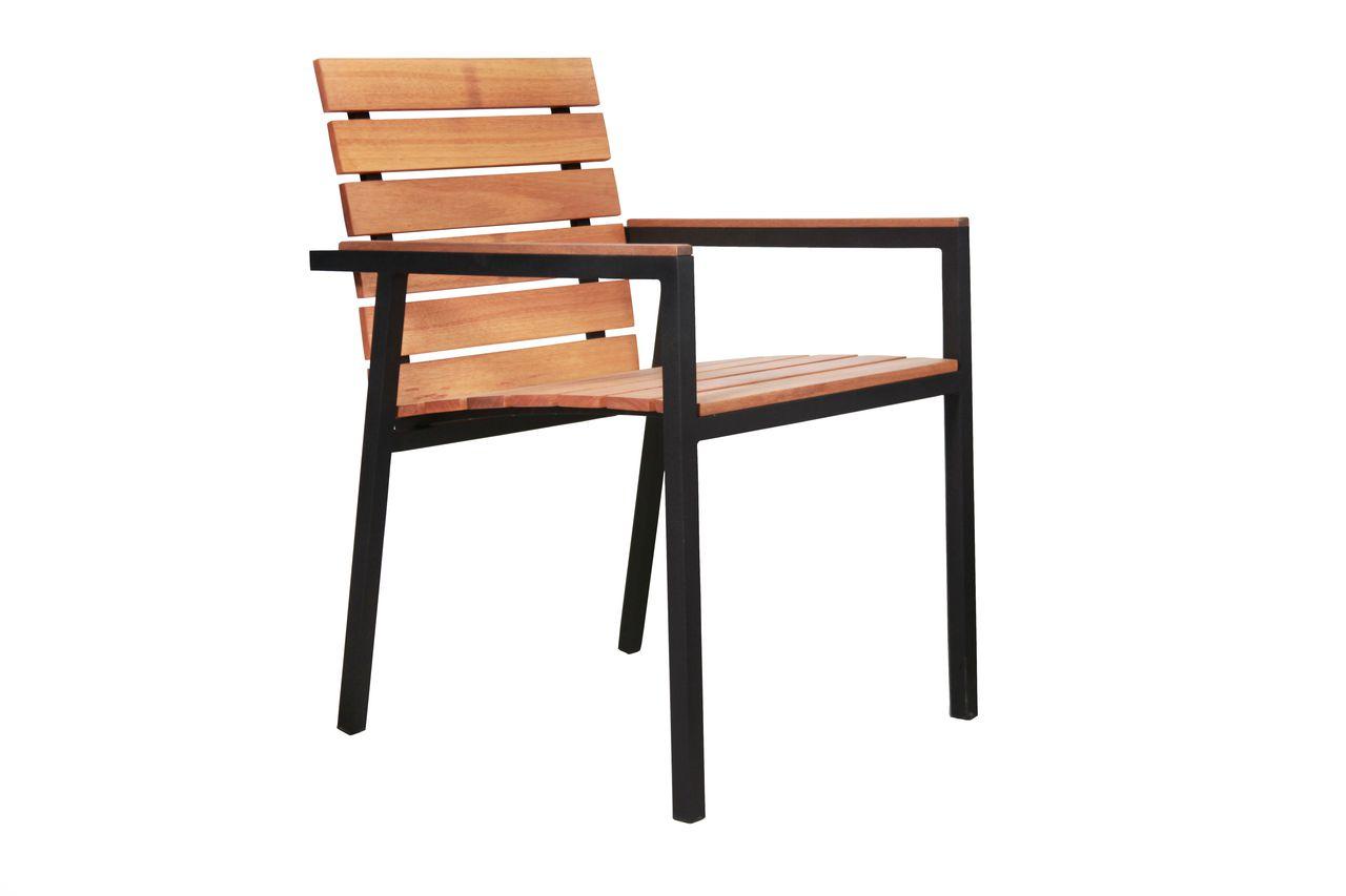 Cadeira Dakar Assento e Encosto de Madeira Freijo com Braço