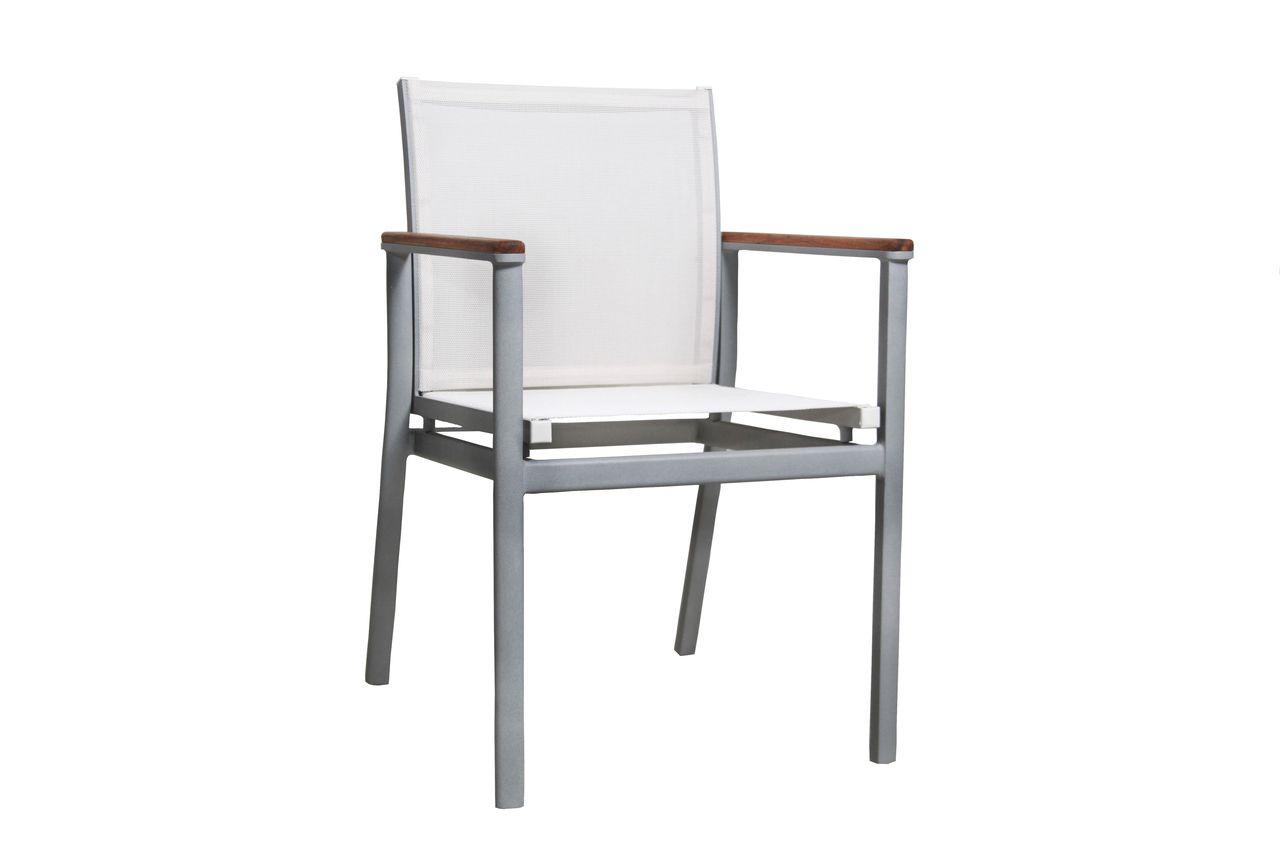 Cadeira Sophia Tela Braço Madeira Freijo