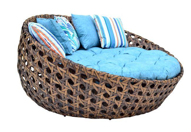 Sofá Soleil com Almofada Assento e 5 Decorativas