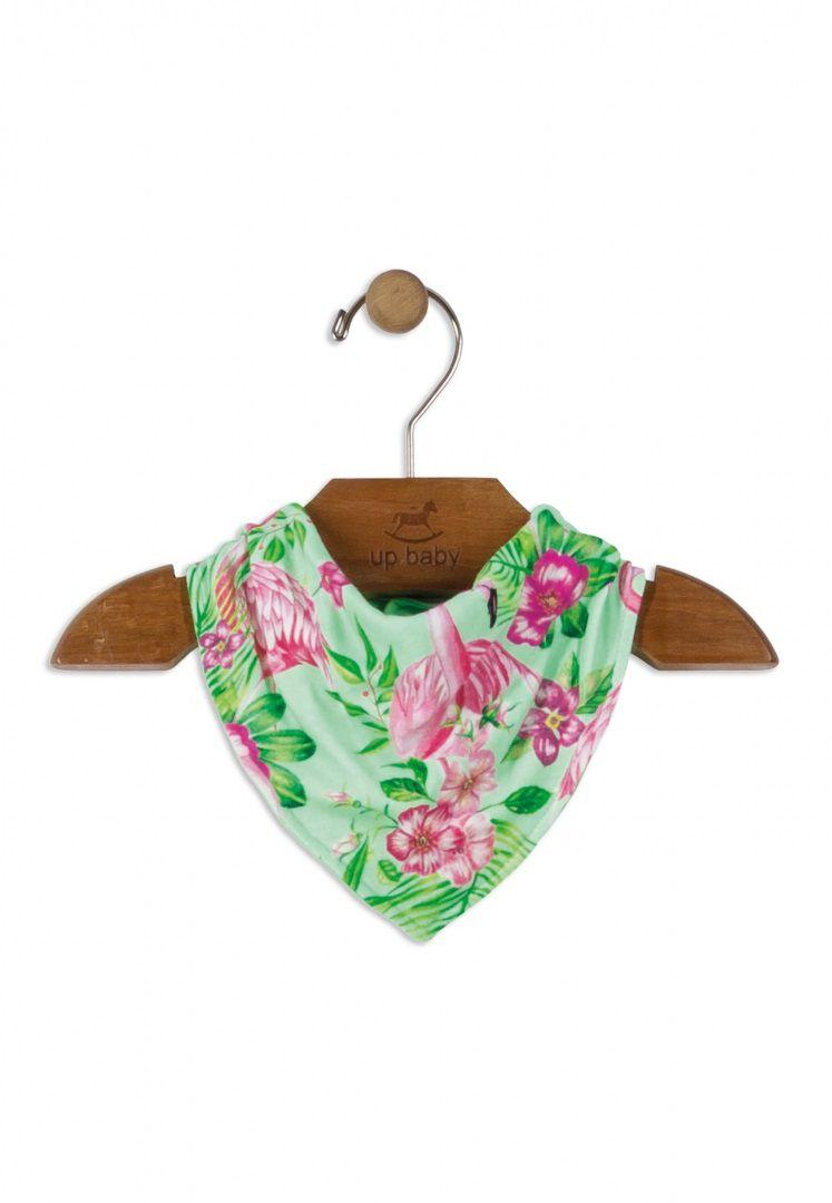 Babador Bandana em Suedine Estampa Flamingo - Up Baby