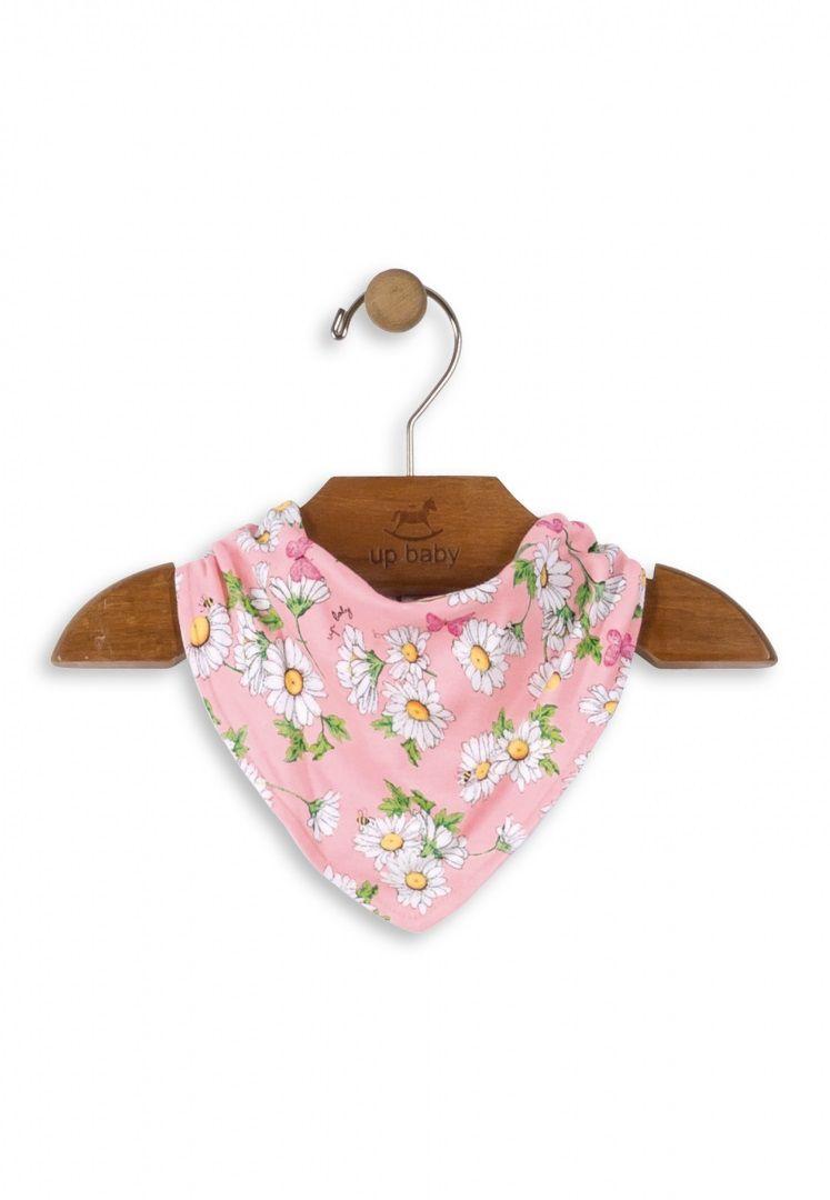 Babador Bandana em Suedine Estampa Flores - Up Baby