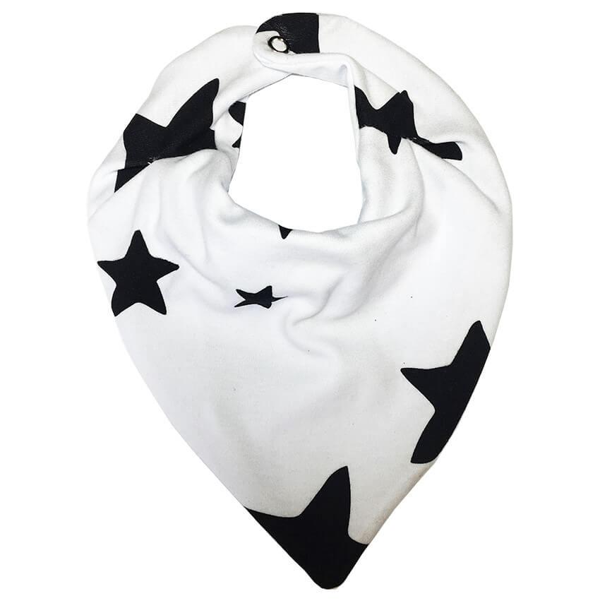 Babador Bandana em Suedine Estrela Branco - Lualand