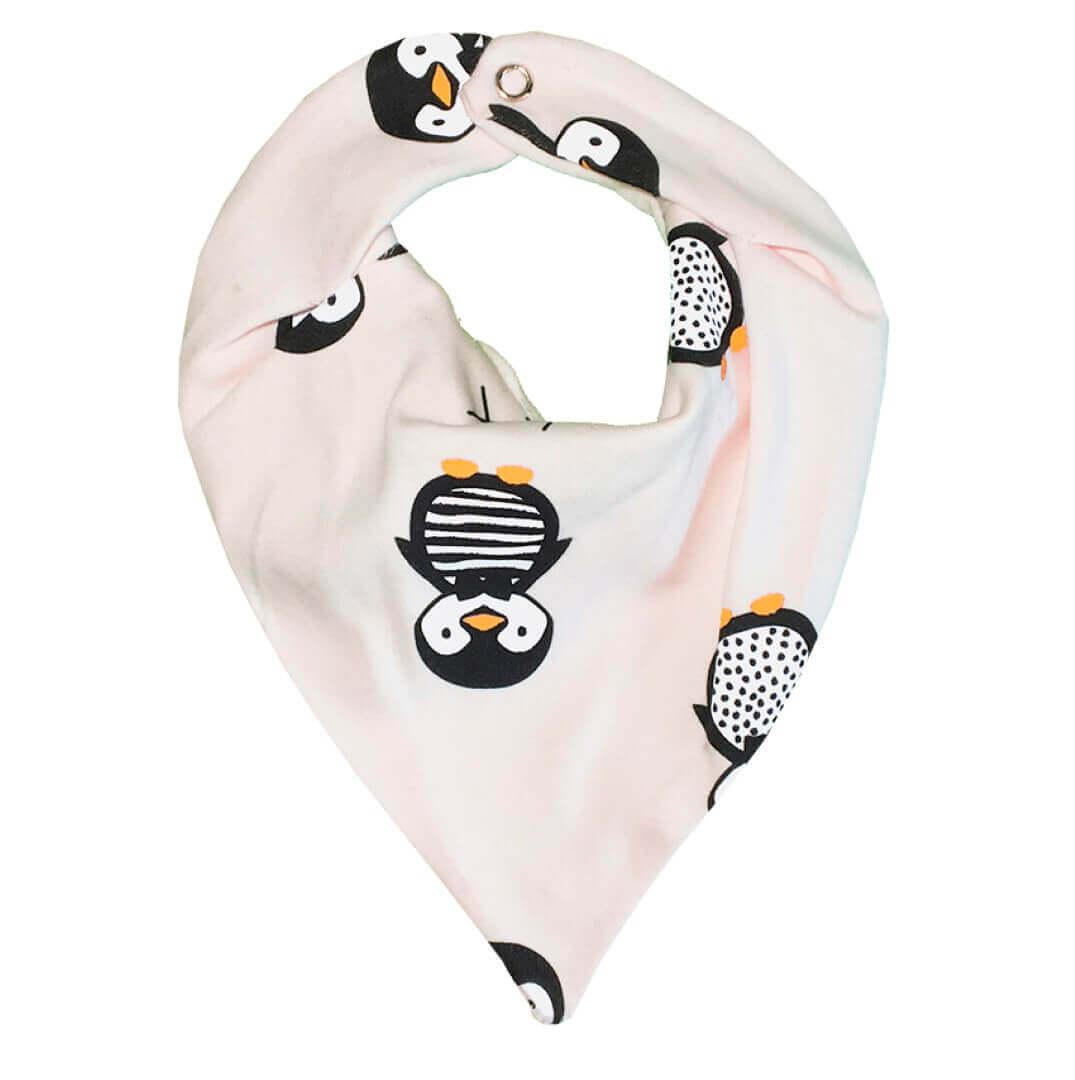 Babador Bandana em Suedine Pinguim Rosa Claro - Lualand