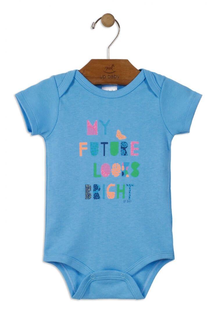 Body Manga Curta em Suedine My Future Looks Bright - Up Baby