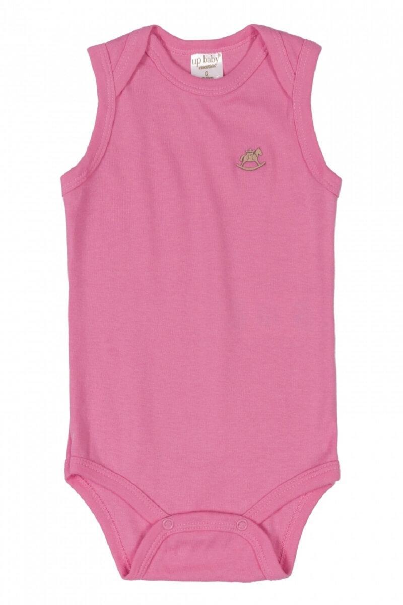 Body Regata em Suedine Rosa Pink - Up Baby