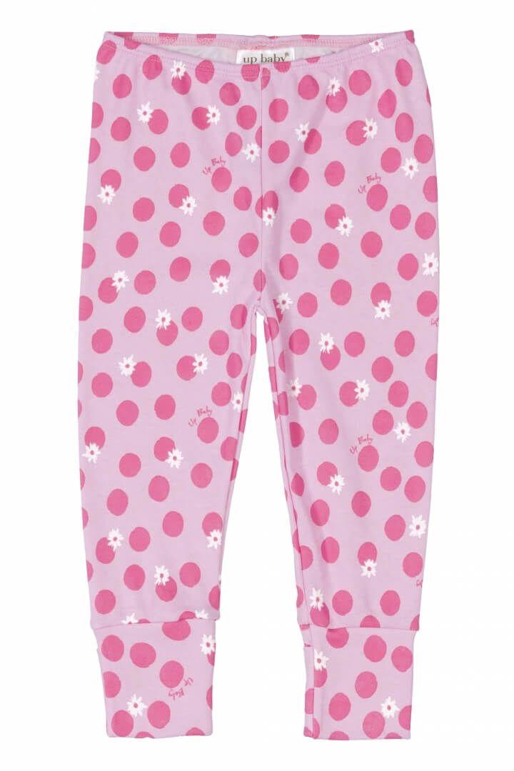 Calça em Suedine Bolinhas Rosa - Up Baby