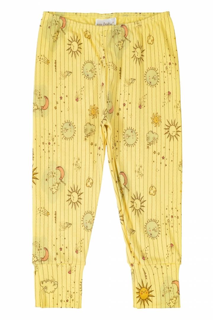 Calça em Suedine Estrelar Amarela - Up Baby