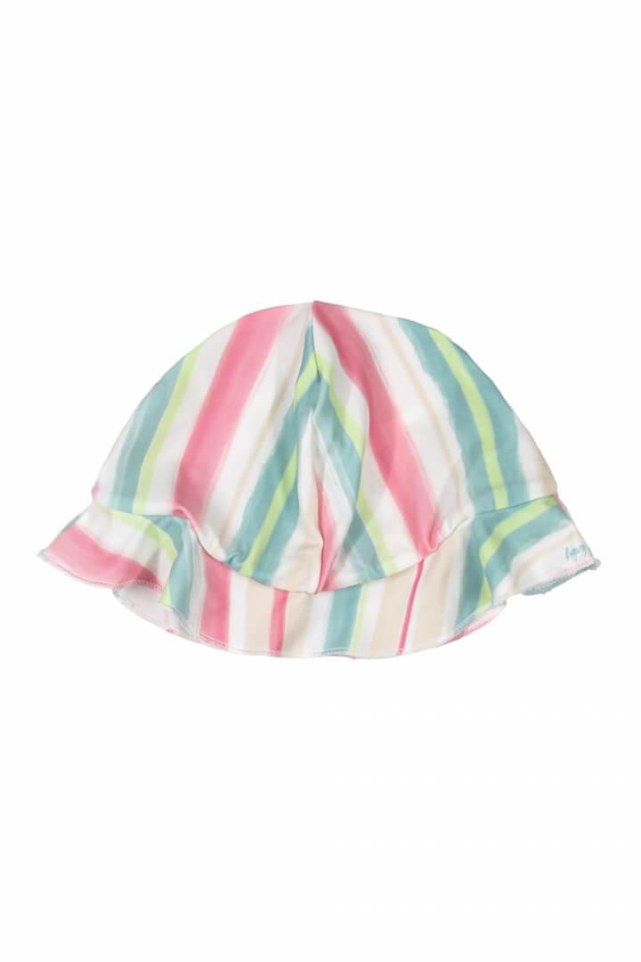 Chapéu em Malha Poliéster com Proteção UV Listras - Up Baby
