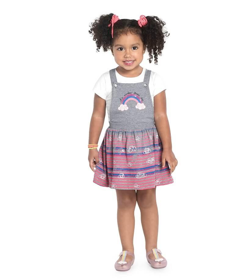 Conjunto Blusa com Salopete Cotton Leve - Rovitex Kids