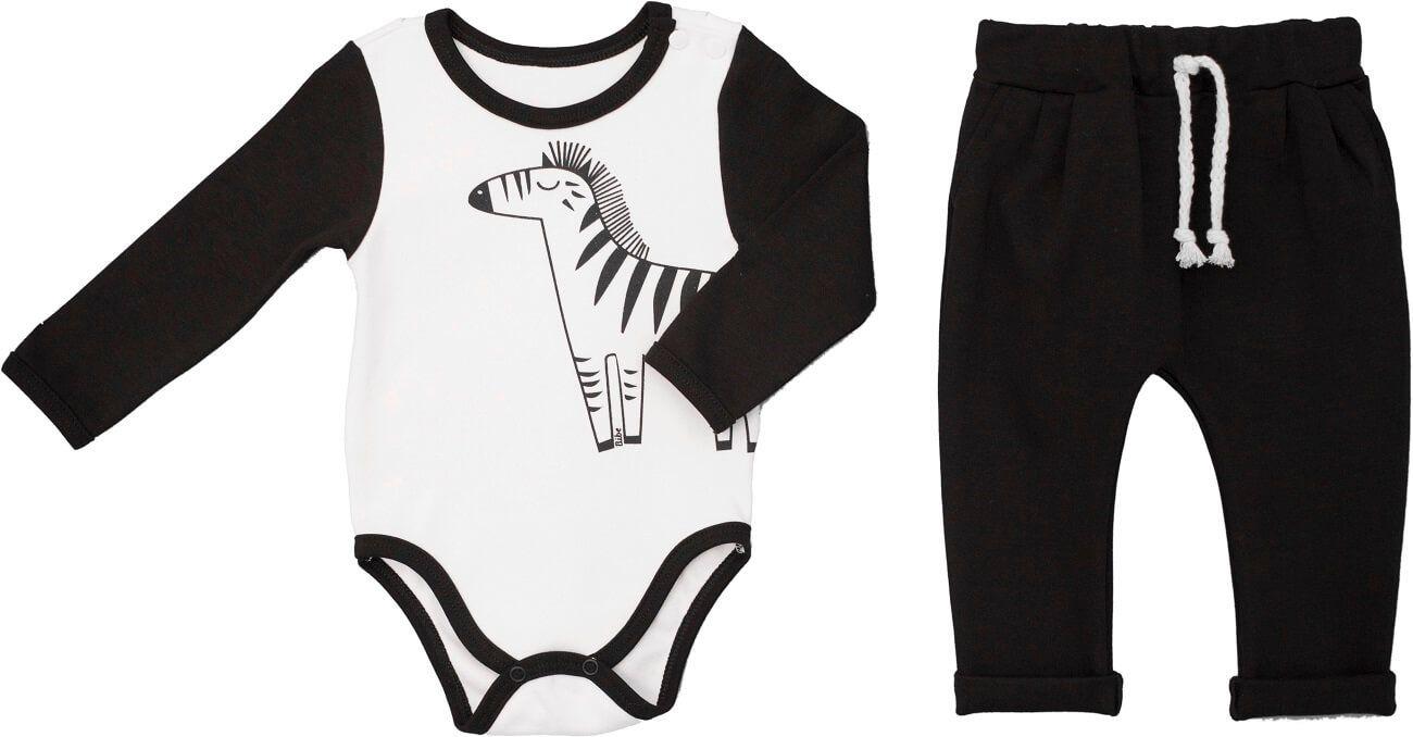 Conjunto Body Manga Longa com Calça em Suedine Zebra - Bibe