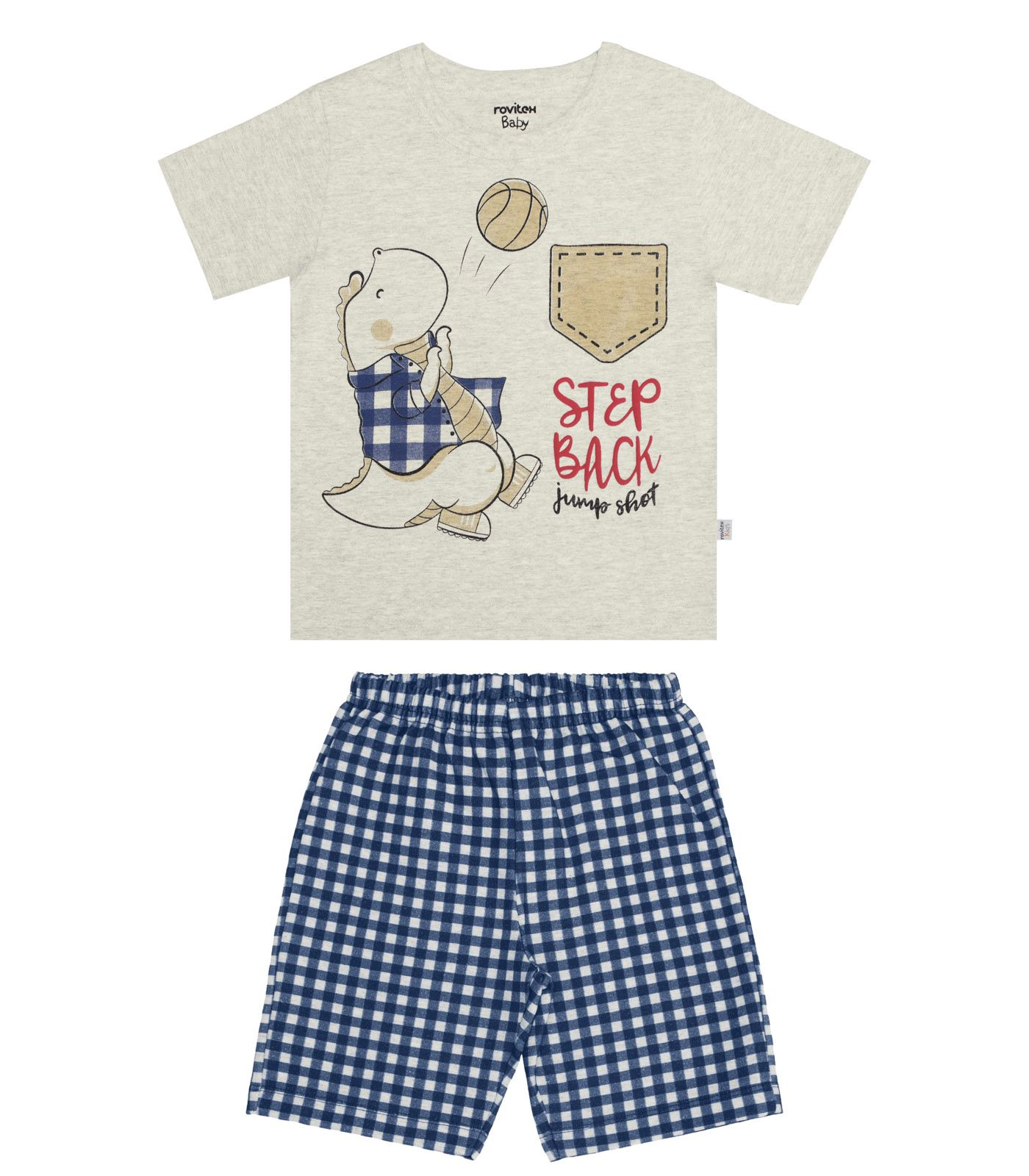 Conjunto  Camiseta com Bermuda Meia Malha / Motelom
