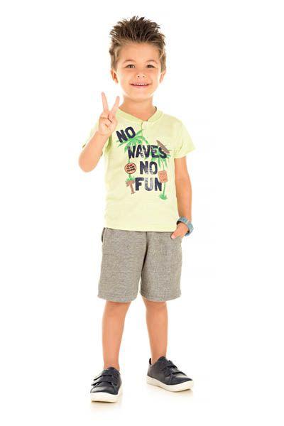 Conjunto Camiseta Flamê e Bermuda Moletinho - Ralakids