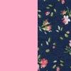 Rosa + Floral miúdo marinho