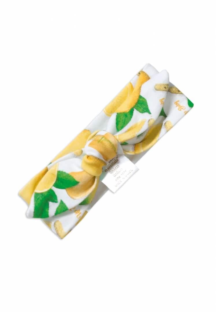 Faixa para Cabelo em Suedine Estampa Limão - Up Baby