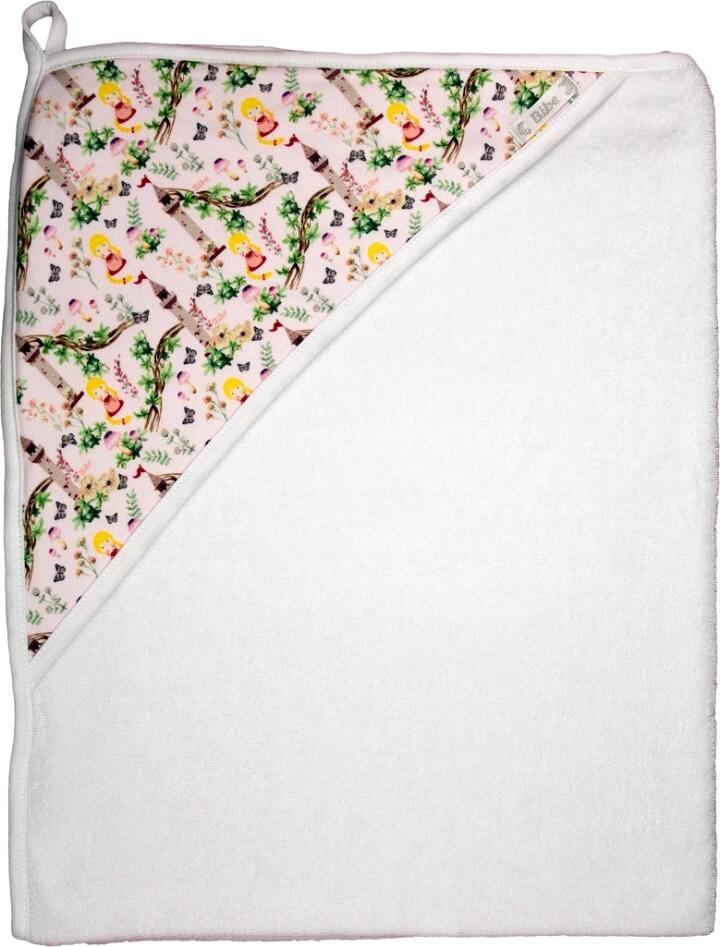 Toalha de Banho com Capuz em Fio Egípcio Estampa Digital Princesas Branca - Bibe
