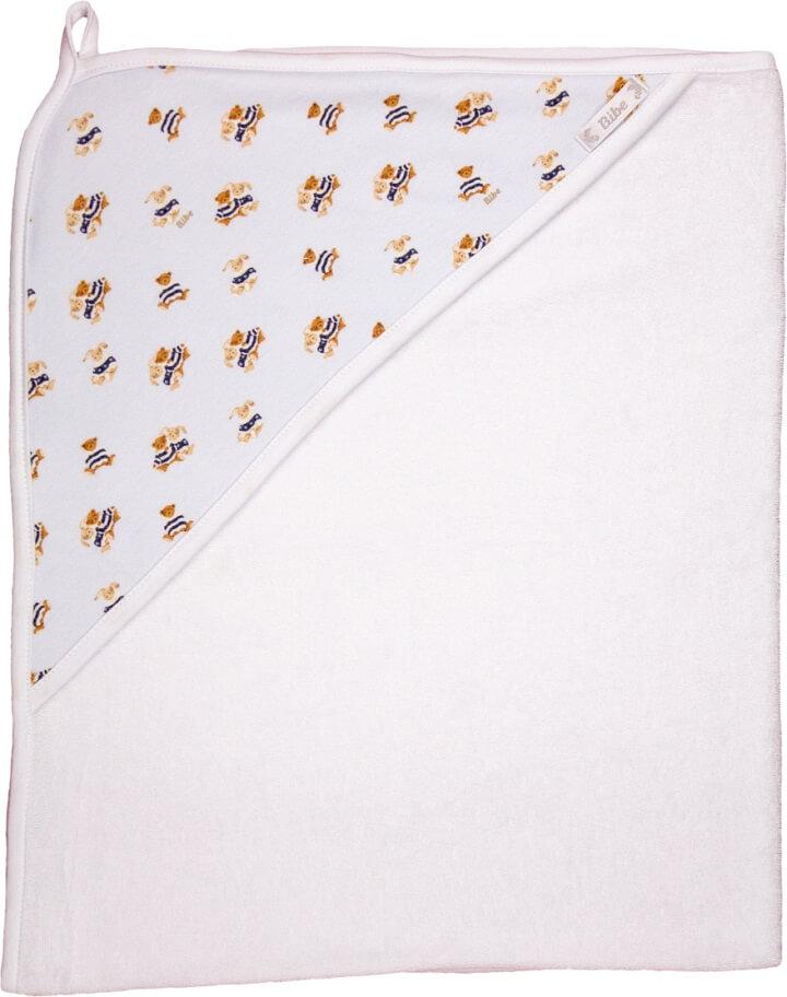 Toalha de Banho com Capuz em Fio Egípcio Estampa Digital Ursinhos Azul - Bibe