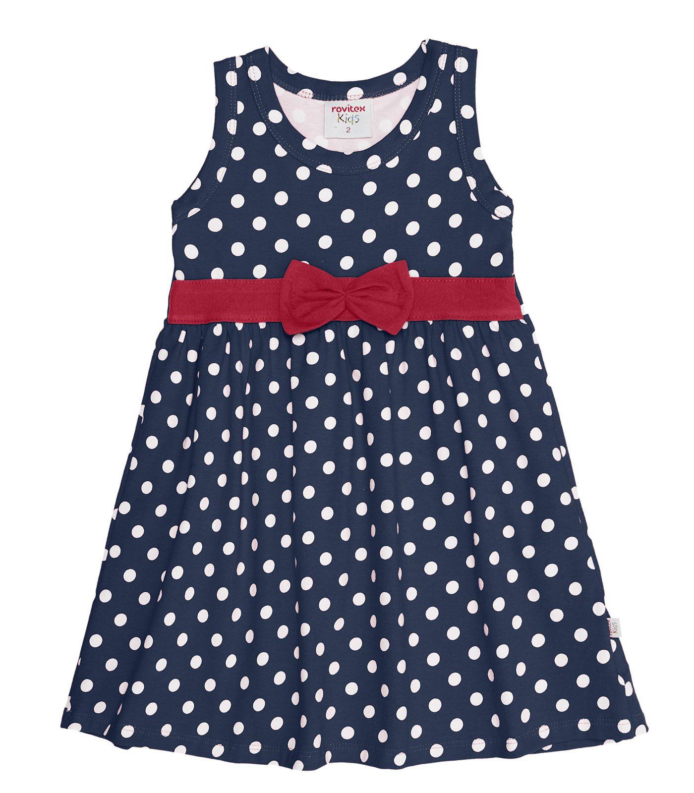 Vestido Cotton Leve com Laço - Rovitex Kids
