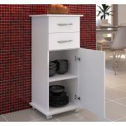 Armário 2 Gavetas Móveis Cozinha Base Multiuso Cor Branca