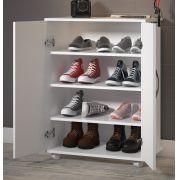 Balcão Armário Branco 2 Portas c/ Prateleiras Sapatos Quarto