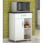 Fruteira Armário p/ Cozinha Base Preta c/ Rodinhas