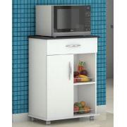 Fruteira Cozinha 1 Gaveta 1 Porta  Armazenamento c/ Rodinhas