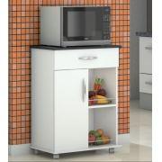 Fruteira Cozinha 1 Gaveta 1 Porta  Armazenamento c/ Rodinhas Preto