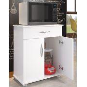 Fruteira Cozinha Armário 2 Portas 1 Gaveta Microondas Balcão Preto
