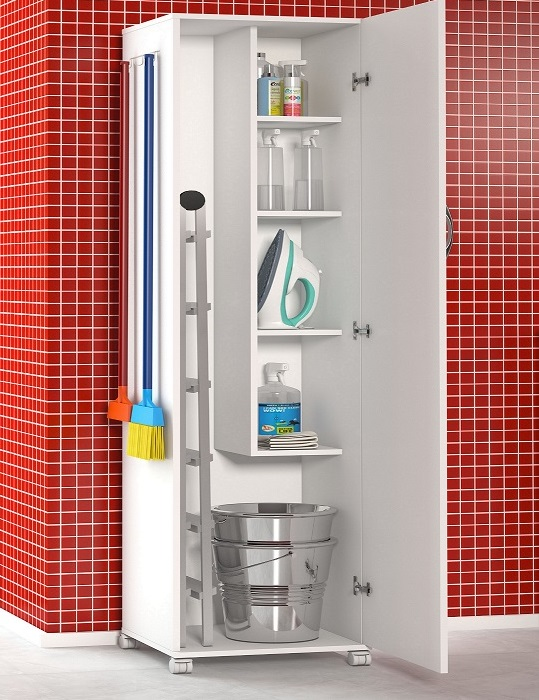 Armário 1 Porta Área De Serviço Porta Vassouras Cozinha