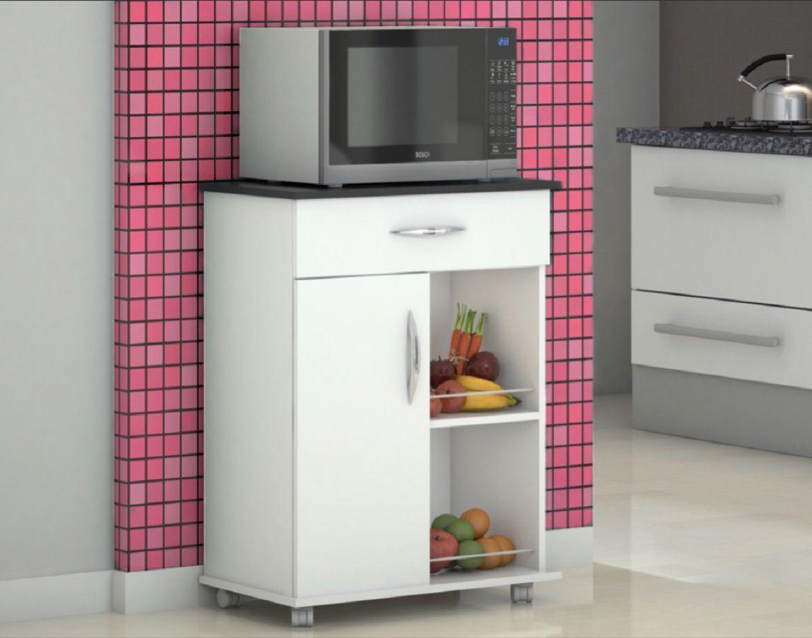 Armário Balcão Cozinha c/ Fruteira Multiuso  Branco