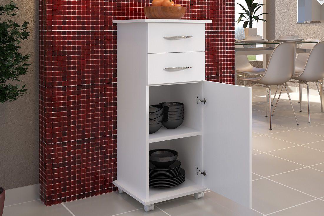 Armário c/ Base Multiuso Cozinha Armazenamento Branco