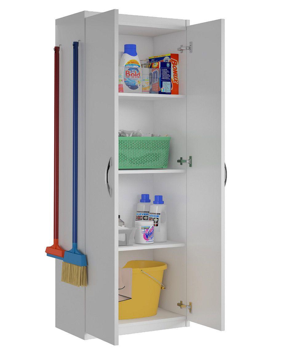 Armário Para Lavanderia 4 Prateleiras Produtos Limpeza