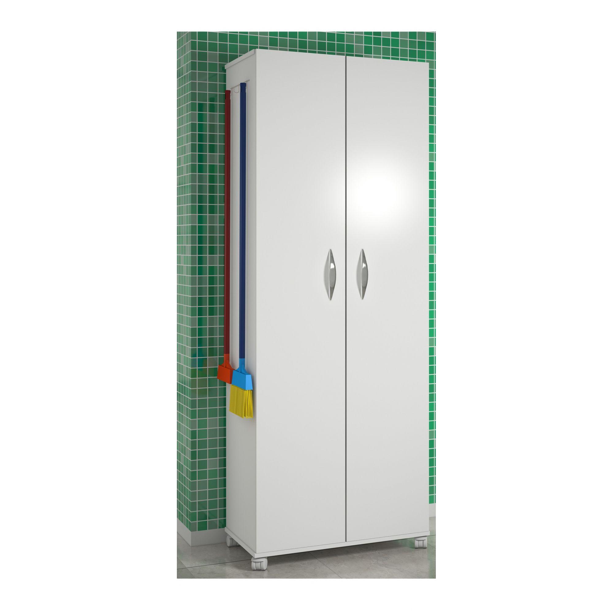 Armário Para Lavanderia Multiuso 2 Portas Alto Dispensa