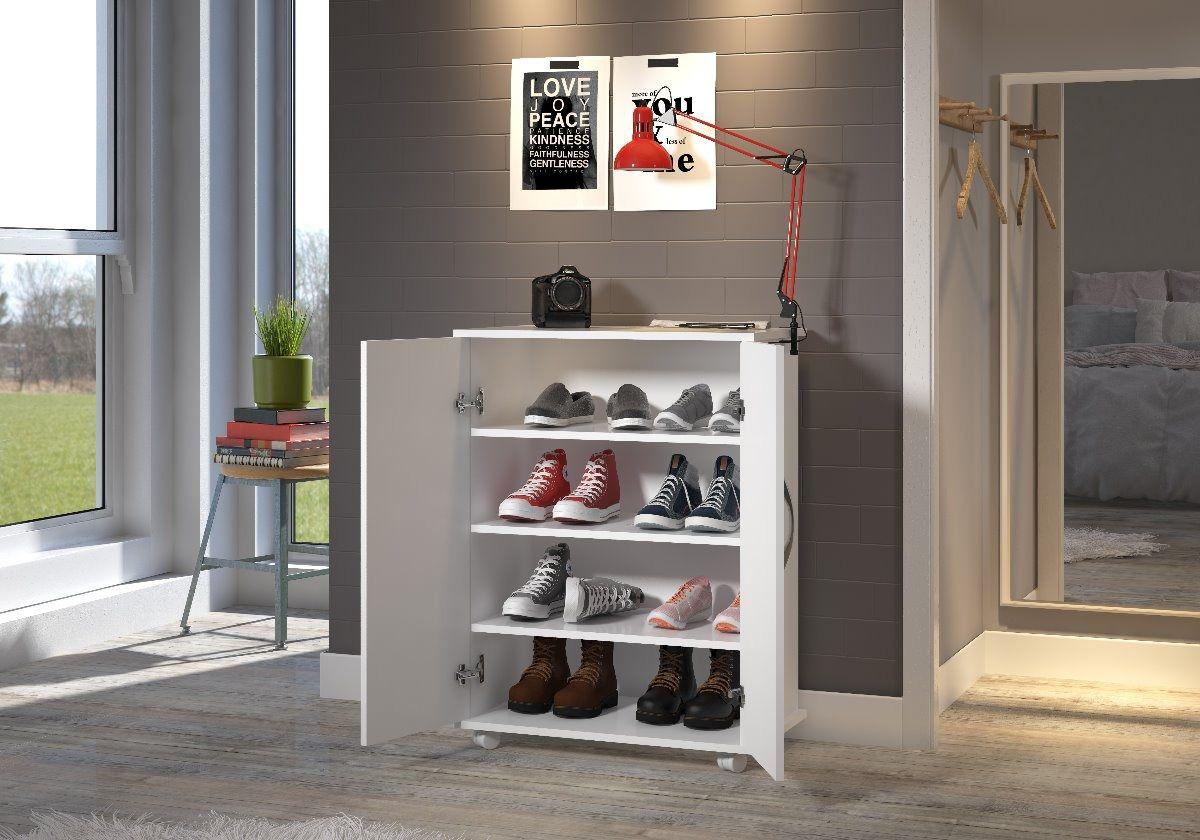 Armário Quarto Multiuso Sapatos Livros Organizador