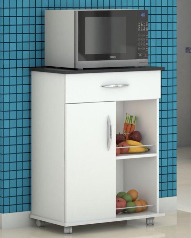 Balcão c/ Fruteira Cozinha Base Preta