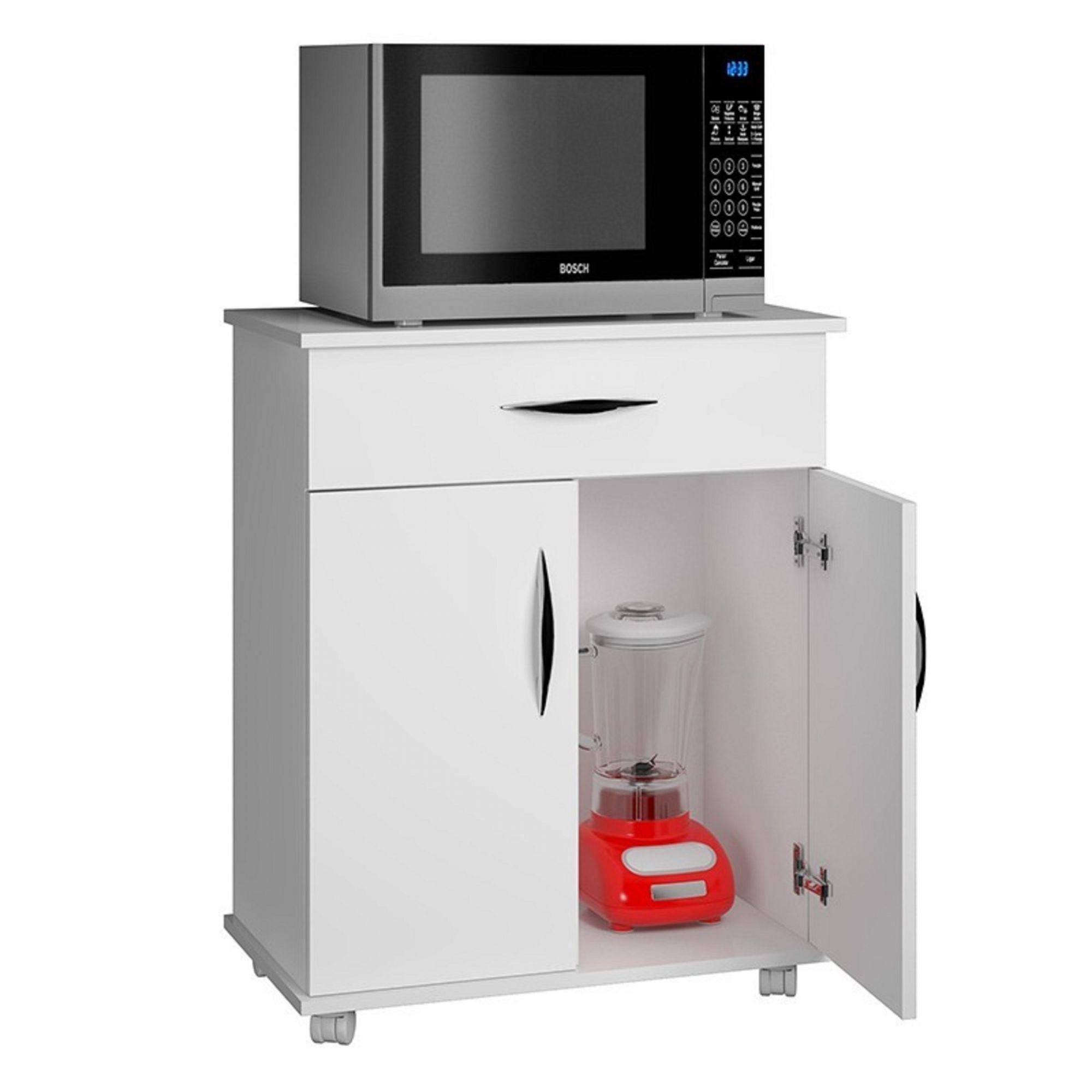 Balcão Cozinha Área de Serviço Base Branca p/ Utensílios