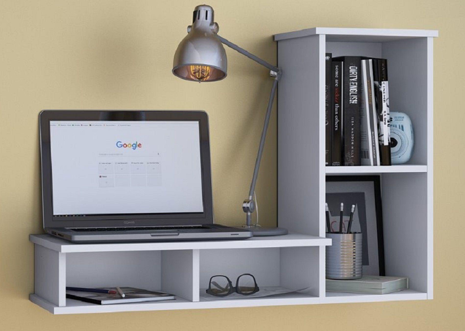 Bancada De Estudos Escrivaninha Para Mesa De Computador Suspensa