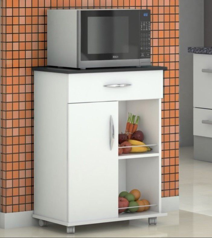 Fruteira Balcão Armário Microondas p/ Frutas Bebedouro de Cozinha com Rodinhas