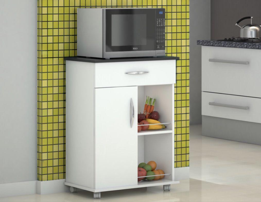 Fruteira Balcão Base Preta 1 Porta 1 Gaveta Cozinha