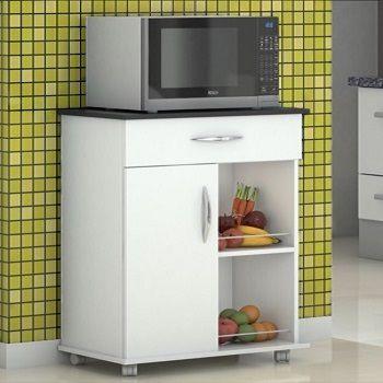 Fruteira Multiuso Cozinha Balcão p/ Microondas Bebedouro Preto