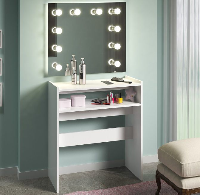 Mesa p/ Manicure Bancada Porta Esmaltes Organizador c/ Prateleiras