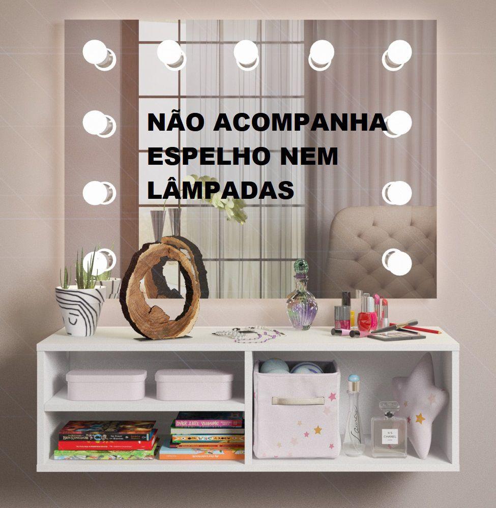 Penteadeira Camarim Suspensa c/ Nichos Porta Maquiagem