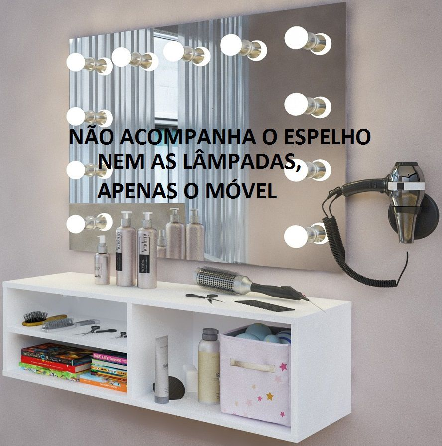 Penteadeira Camarim Suspensa Make Up Escrivaninha