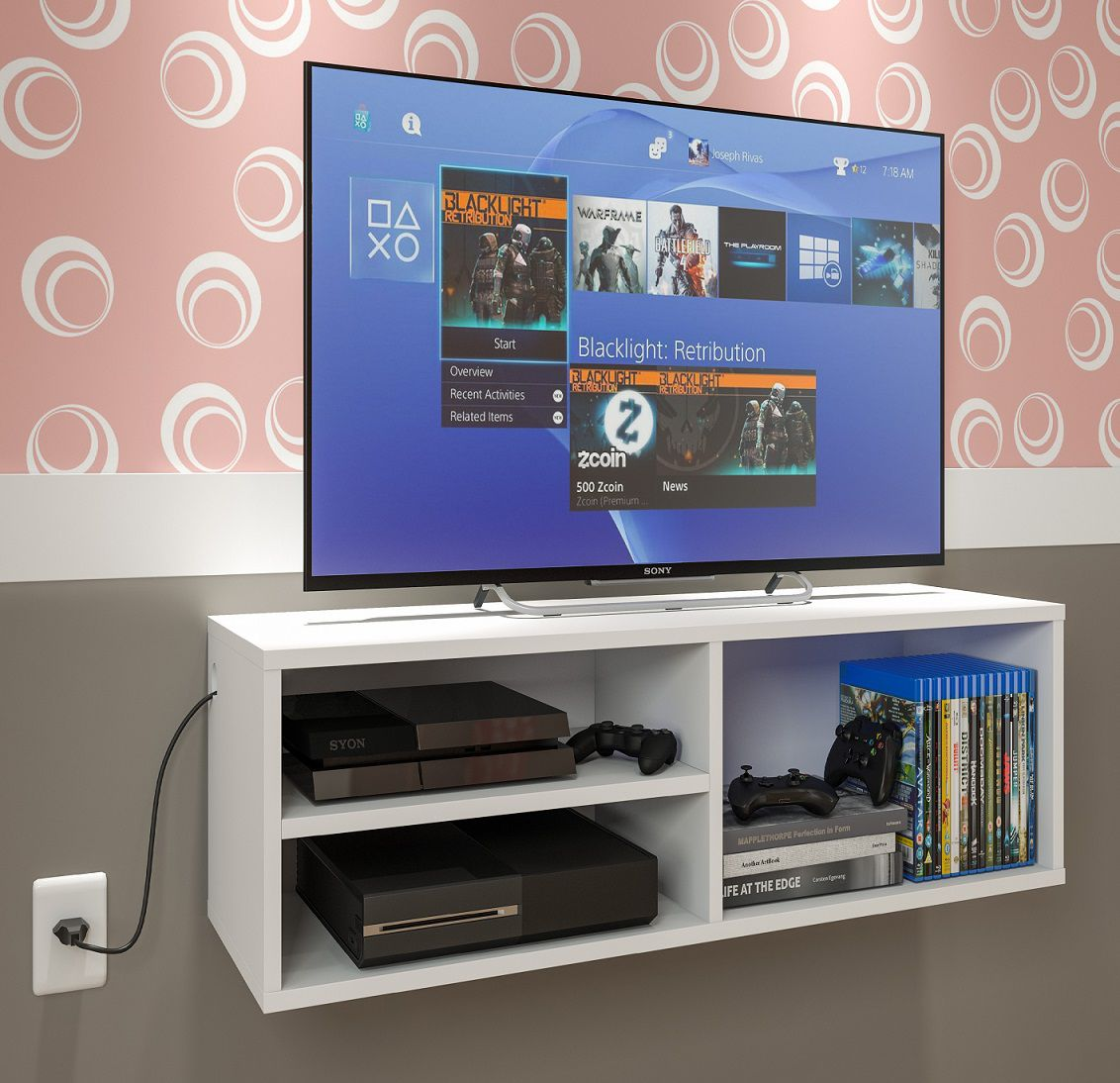 Rack P/ Tv, Dvd, Cd ,video Game, Nicho Prateleira Branco