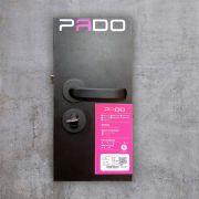 Fechadura Externa Pado Magnum Roseta Redonda Preta 40mm