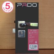 Kit Fechadura Pado Quadra: 4 WC e 7 EXT/IINT Roseta Quadrada Cromada 55mm