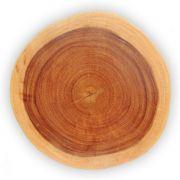 Bolacha de madeira maciça rústica lisa festa churrasco  43x42x6cm