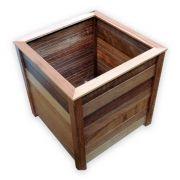 Vaso Cachepot - madeira maçica de Camaçari 36x36x40cm