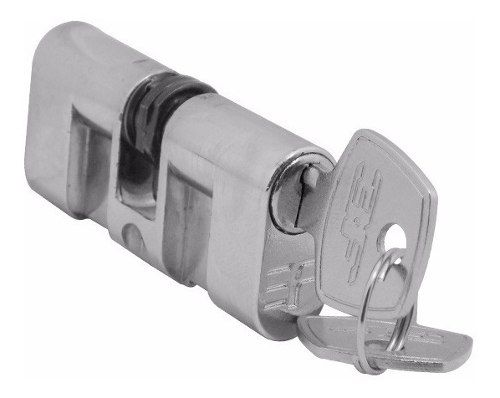 Cilindro Para Fechadura 3f 7,4cm Comprimento Cr